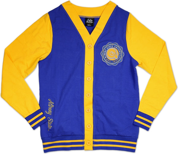 Albany State Golden Rams S6 Light Weight Ladies Cardigan