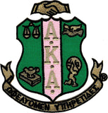 Alpha Kappa Alpha Crest Iron-On Patch
