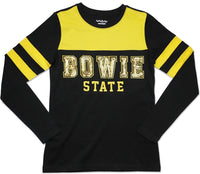 Bowie State Bulldogs Ladies Long Sleeve Tee