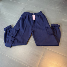 Load image into Gallery viewer, Hailey Navy Cargo Joggers