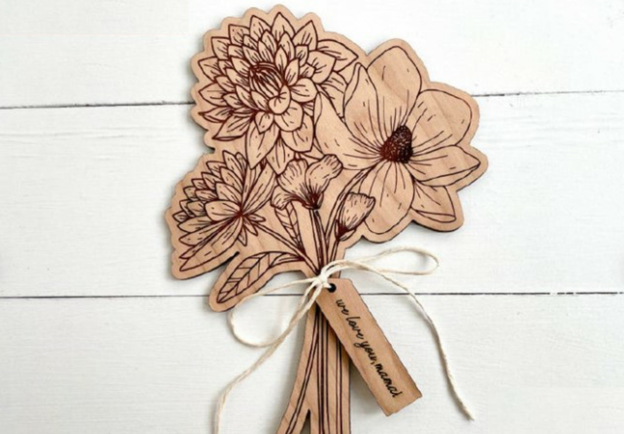 Wood Flower Bouquet for Mom