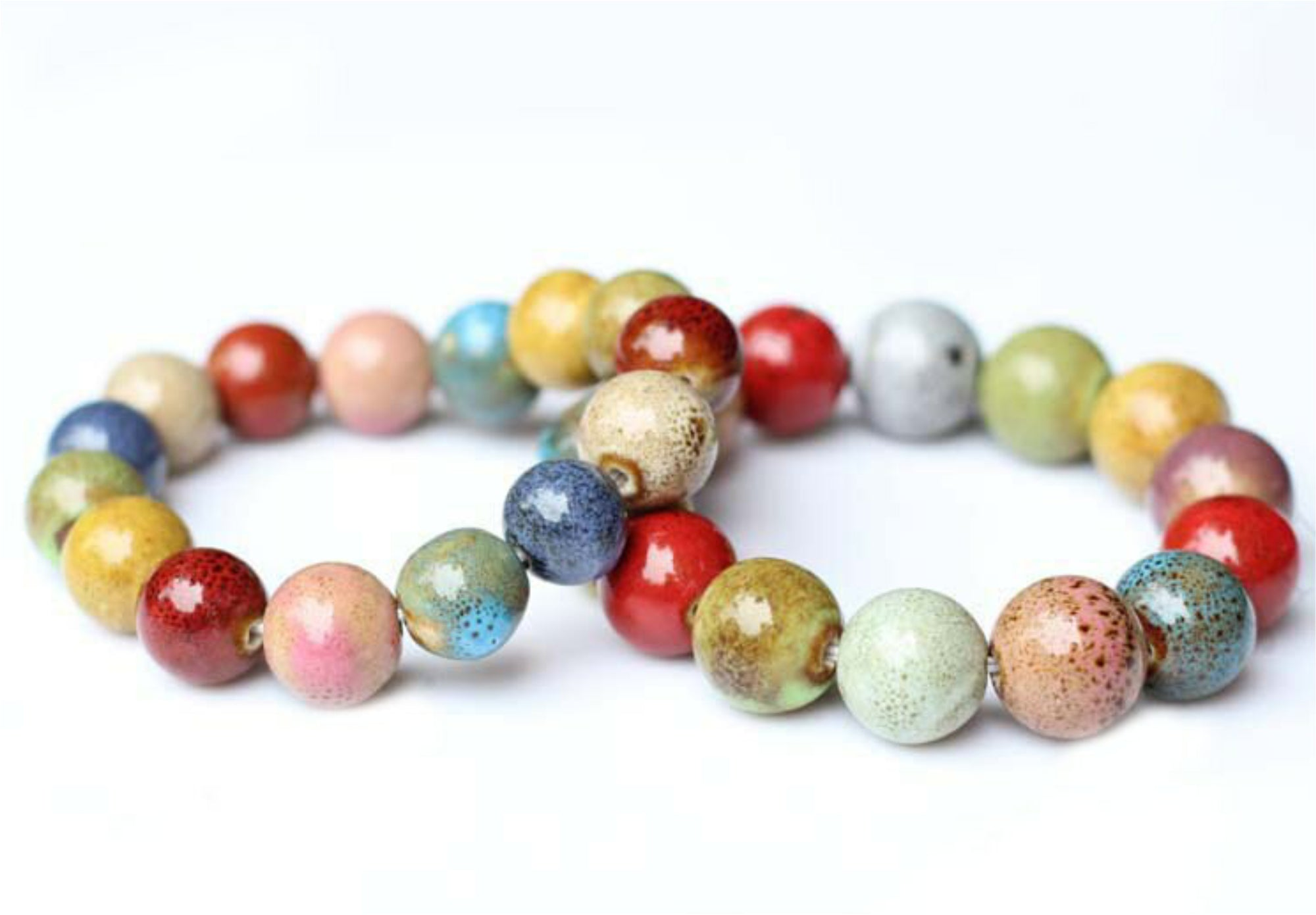 Chunky + Colorful Bead Bracelet