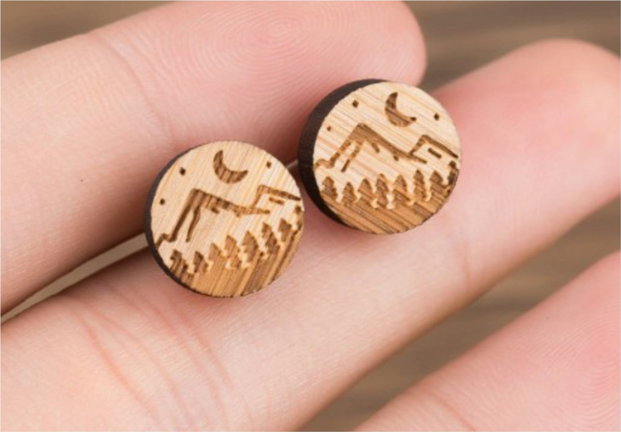 Mountain Scene Wood Studs