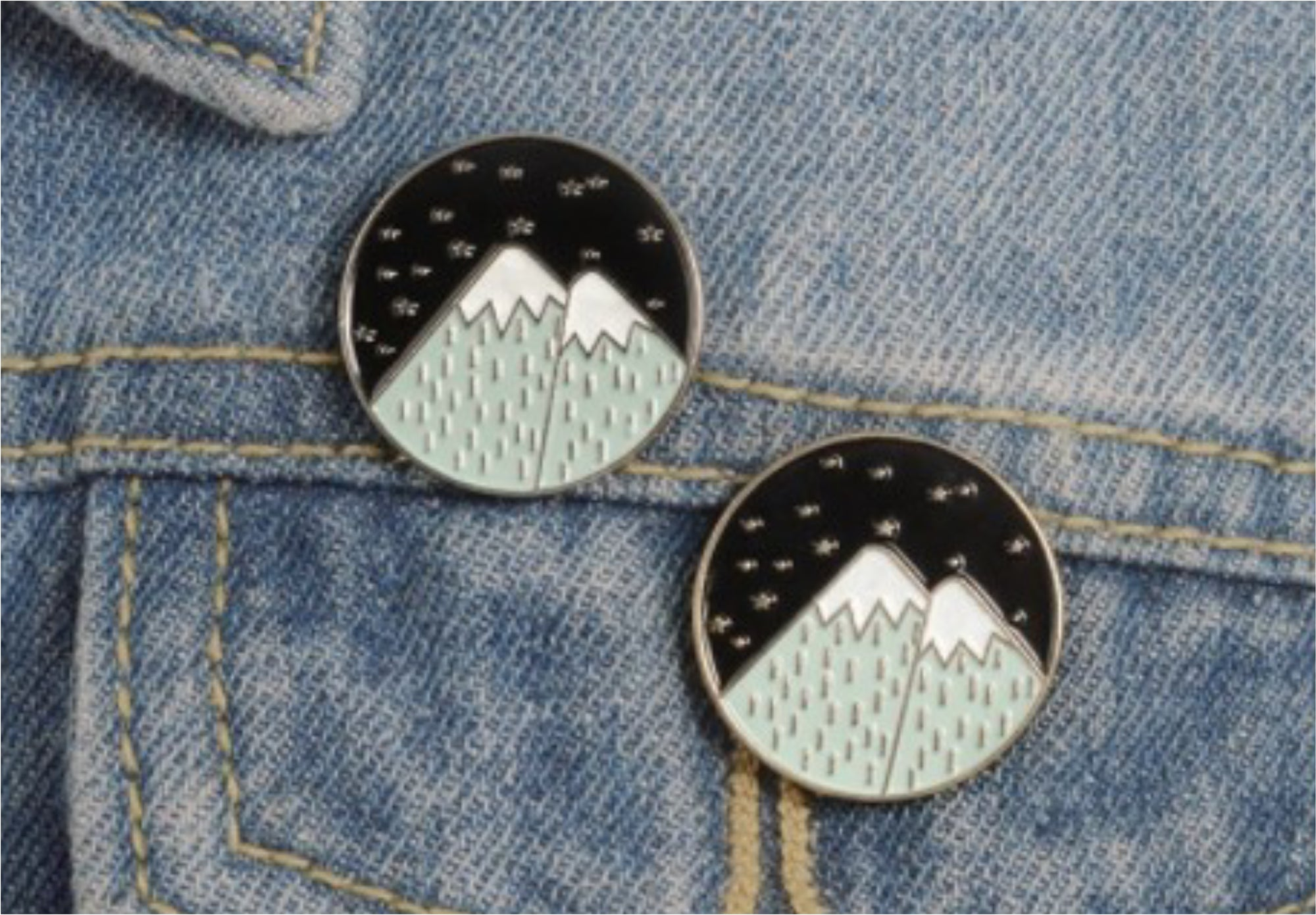 Silver Mountain Pin