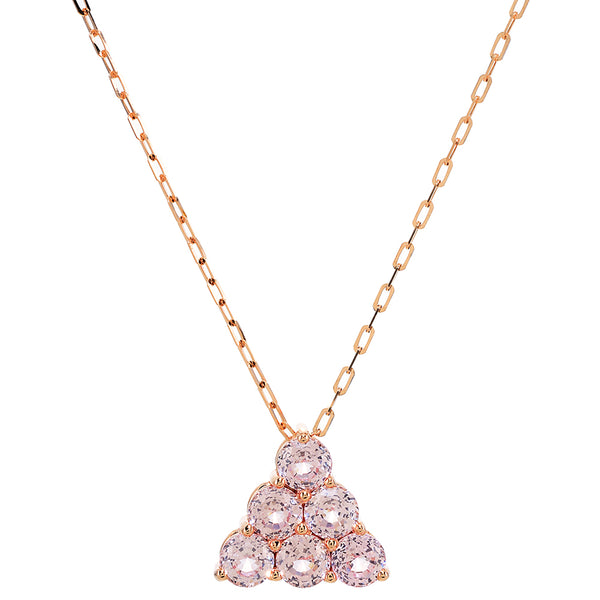 Morganite Pyramid Pendant