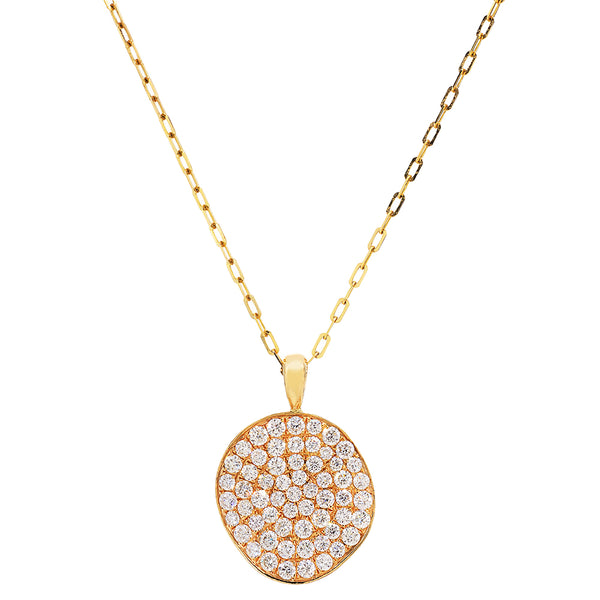 Ora Nicole Diamond Disc Necklace