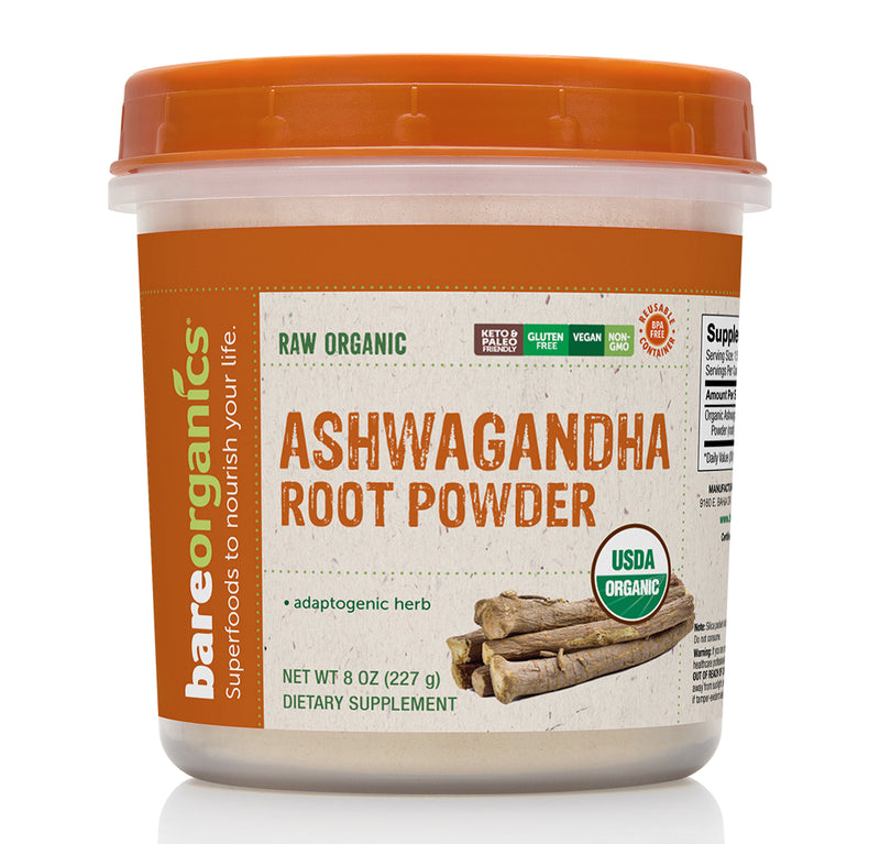 BAREORGANICS® SUPERFOODS ASHWAGHANDHA ROOT POWDER