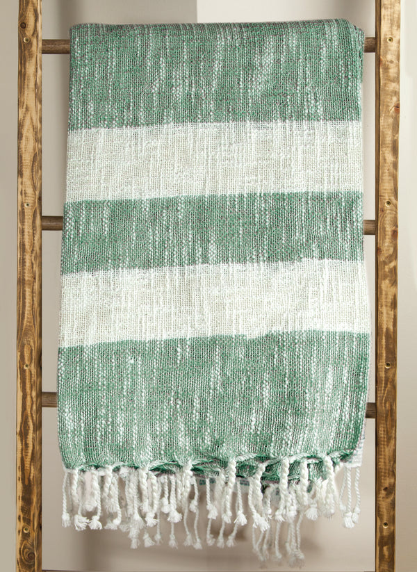 MANUAL WOODWORKERS STRIPE THROW - GREEN