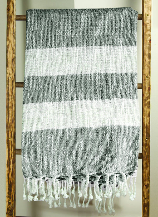 MANUAL WOODWORKERS STRIPE THROW - GRAY