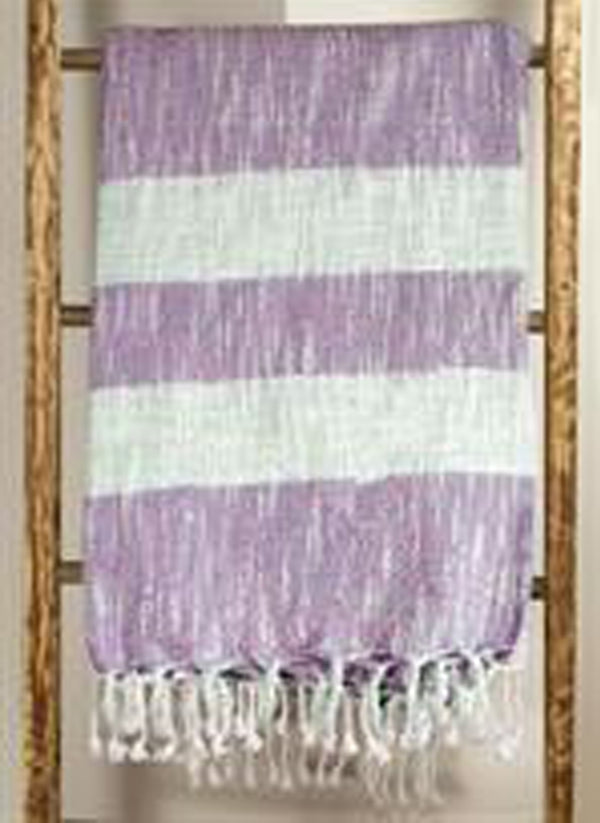 MANUAL WOODWORKERS STRIPE THROW - LAVENDER