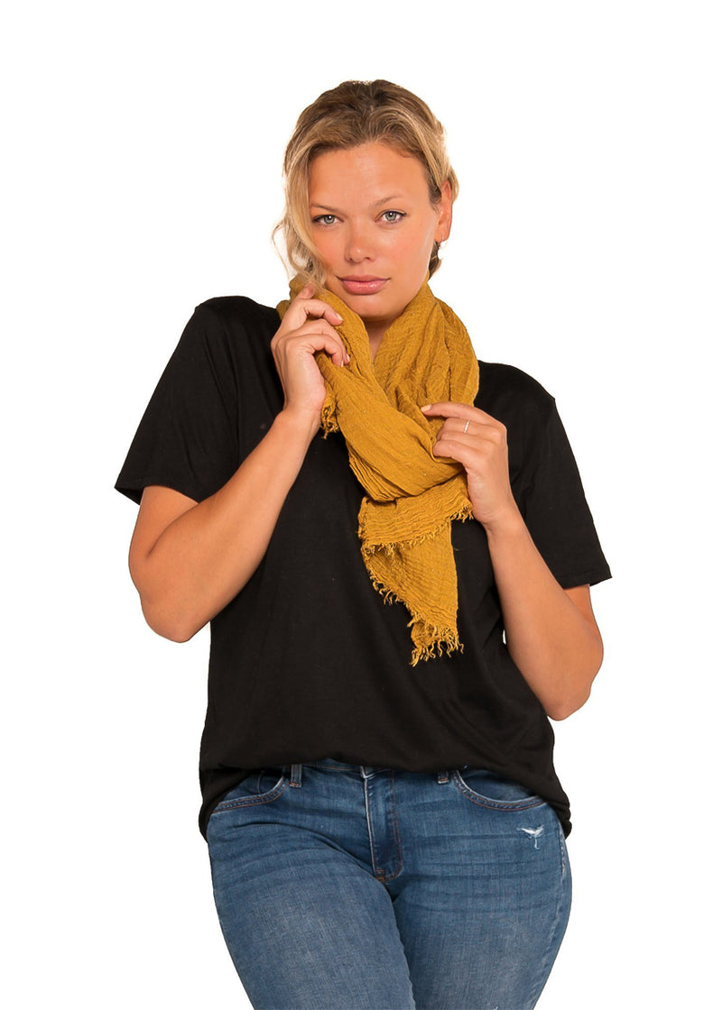 SCARF  - CRINKLE GOLD
