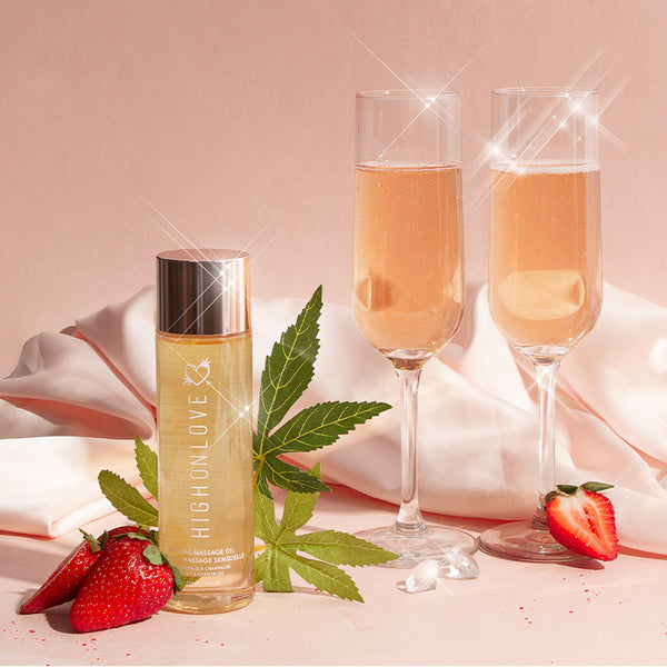 SENSUAL MASSAGE OIL - STRAWBERRIES & CHAMPAGNE