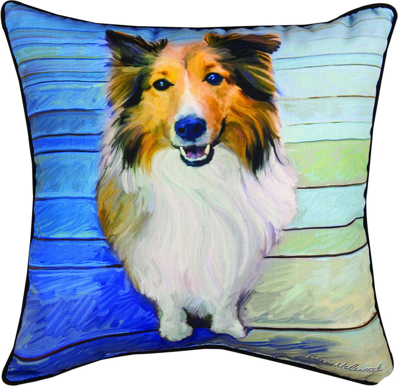 SHELTIE THE EYES - THE DOG BREEDS COLLECTION - DEC. PILLOW
