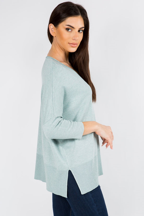 CHELSEA 12 MONTH SWEATER TOP  - SAGE