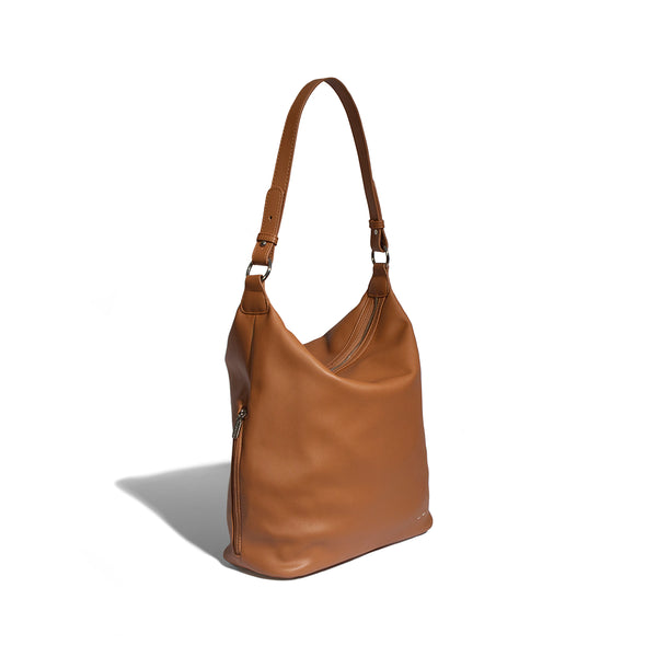 TANIA SHOULDER BAG - COGNAC