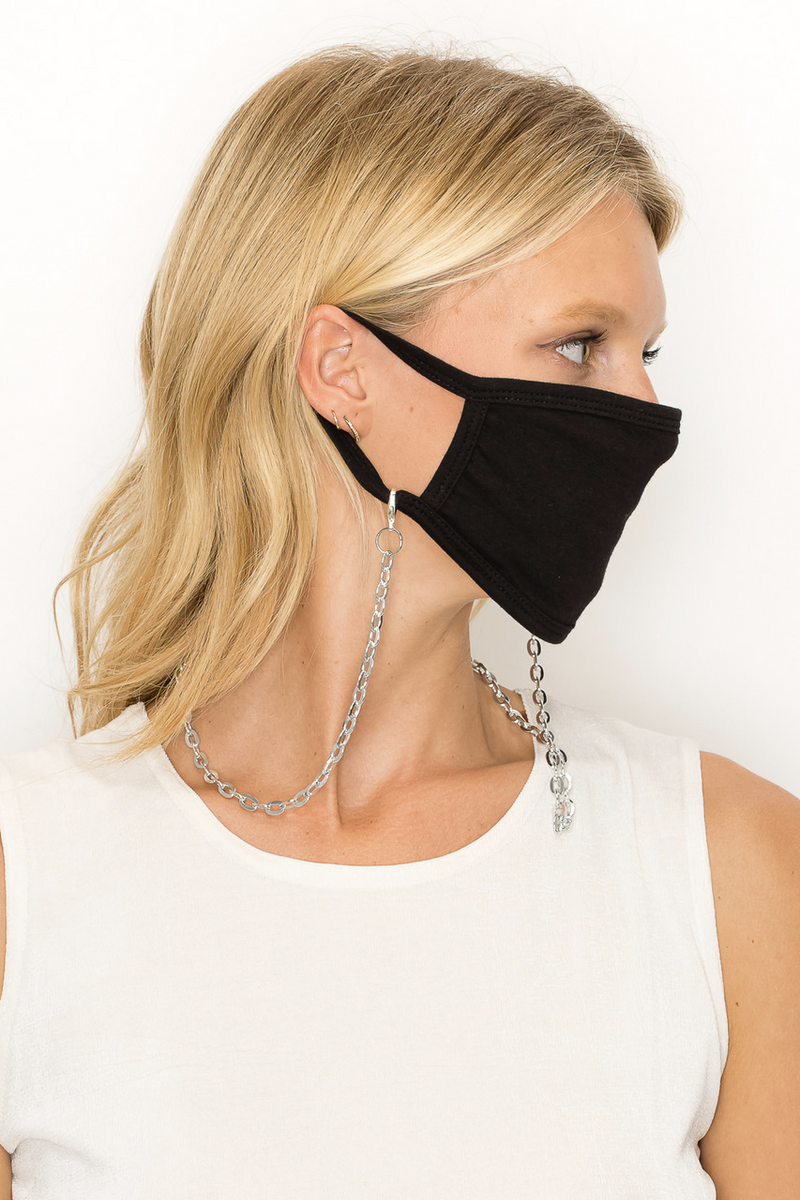 SET OF 2 MASKS & 2 MASK CHAINS - STRIPE