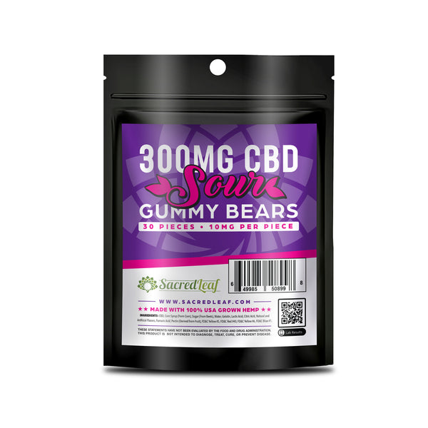 GUMMY 30 PACKS - 300MG - SOUR BEARS