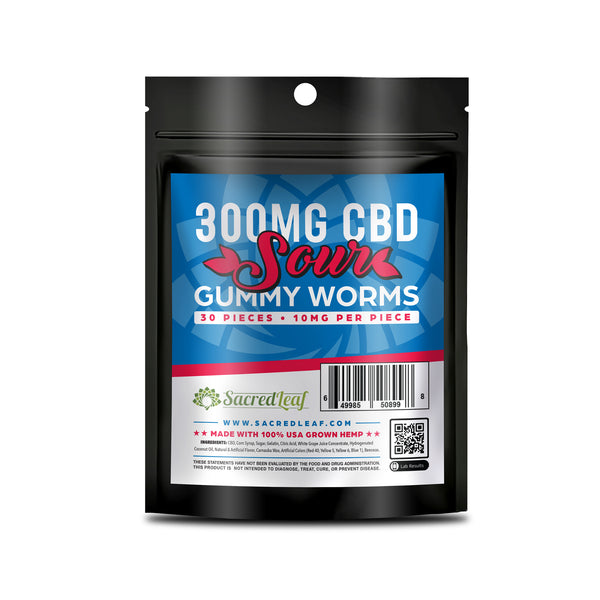 GUMMY 30 PACKS - 300MG - SOUR WORMS
