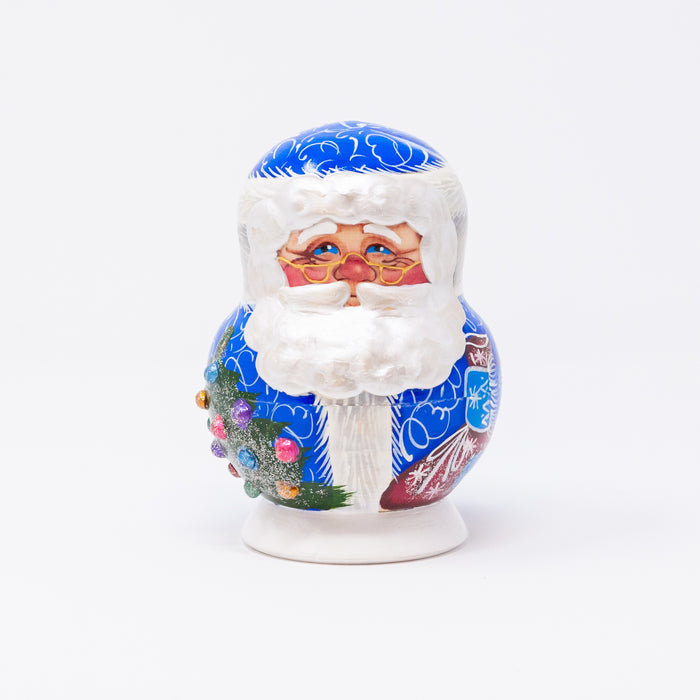 Blue Pearly Beard Santa