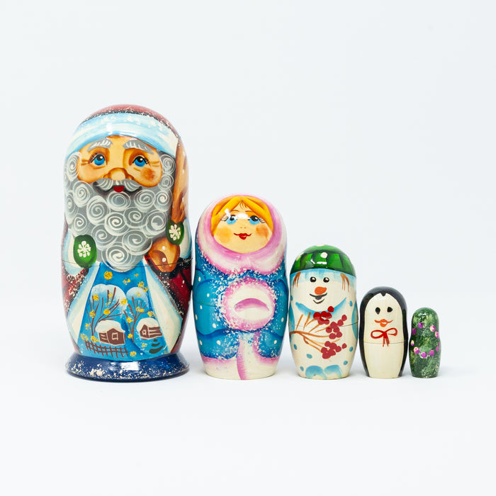 Grandfather Frost with Winter Characters