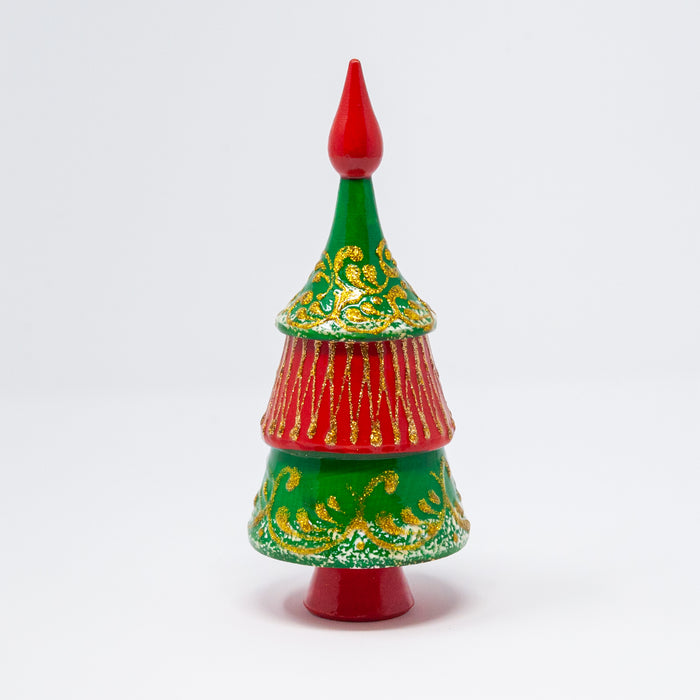 Red Topper Nesting Christmas Tree (Two Colour Options)