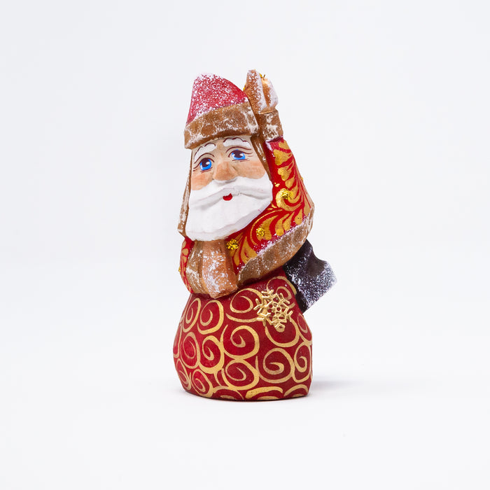 Hand-carved Grandfather Frost Ornament