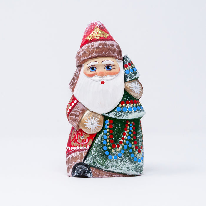 Hand-carved Grandfather Frost Figurine (Two Design Options)
