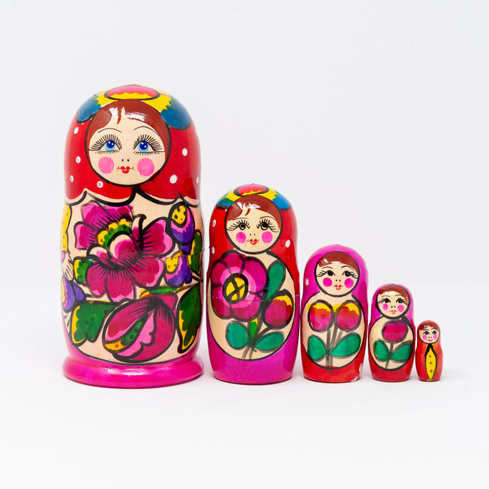 Traditional Polkhovsky Maidan Doll – Set of 5