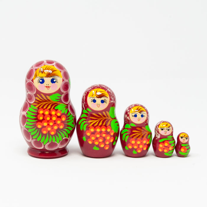 Rowan Berry Folk Artisan Doll – Set of 5 (Two Colour Options)