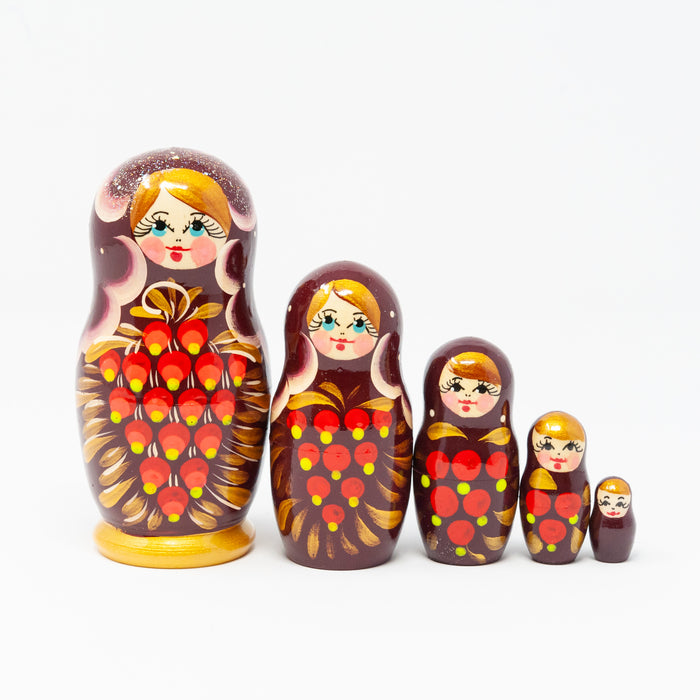 Rowan Berry Folk Artisan Doll – Set of 5
