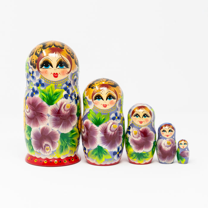 Artisanal Floral Doll – Set of 5