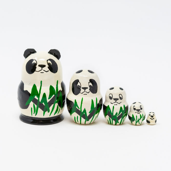 Mini Panda Bear – Set of 5