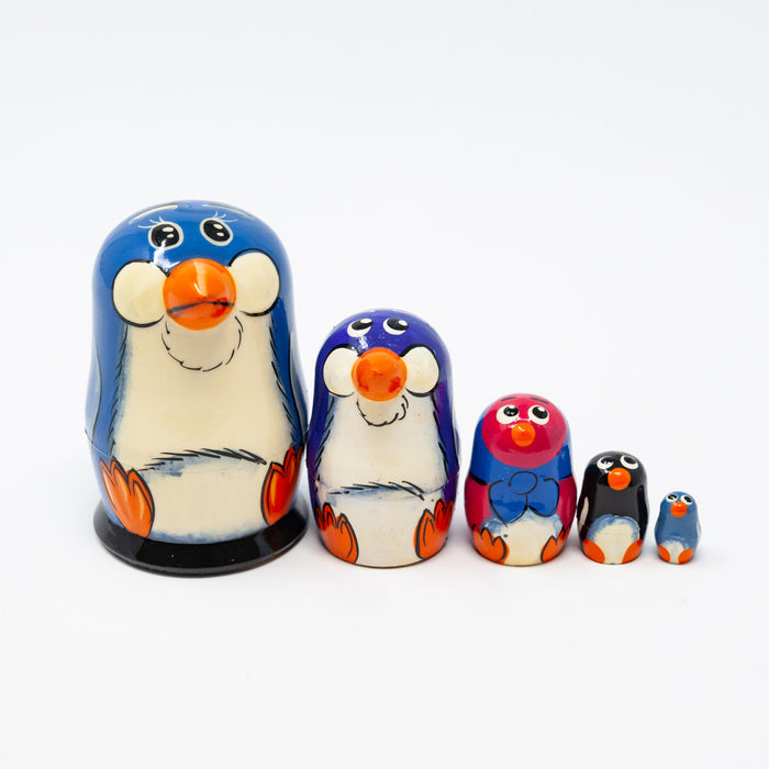 Mini Blue Penguin – Set of 5
