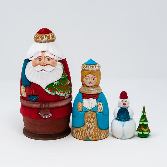 Hand-carved Grandfather Frost (Two Design Options)