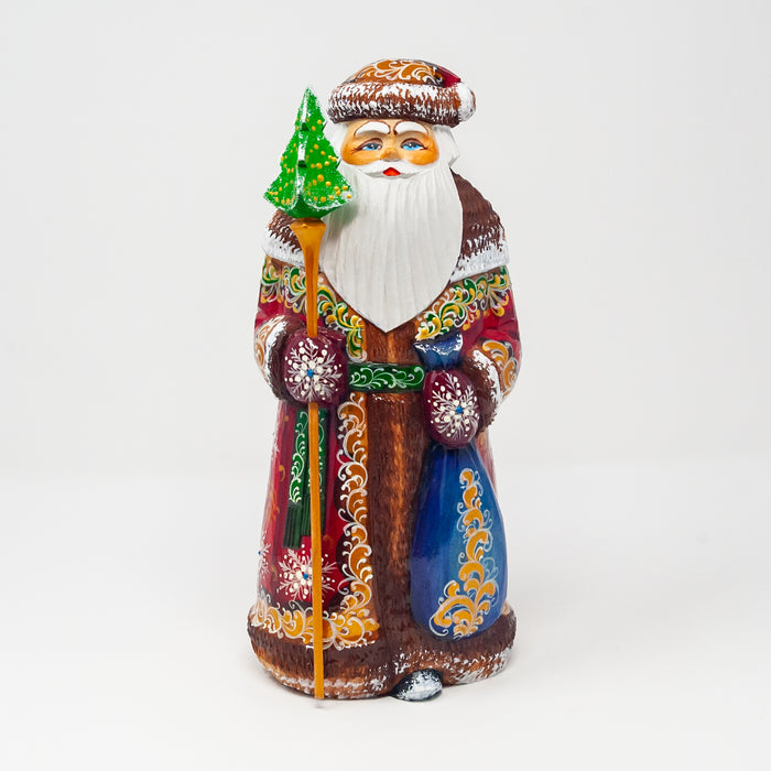 Hand-carved Lacquered Grandfather Frost