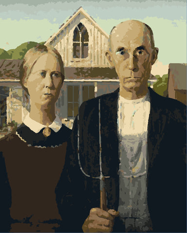 """American Gothic 16""""x20"""" Paint by Number"""