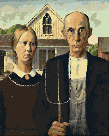 """American Gothic 22""""x27"""" Paint by Number"""