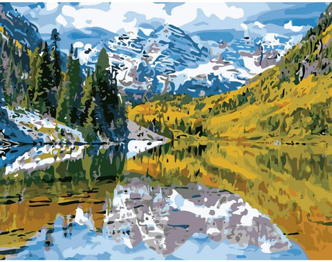 Colorado Mountain Paint by Numbers