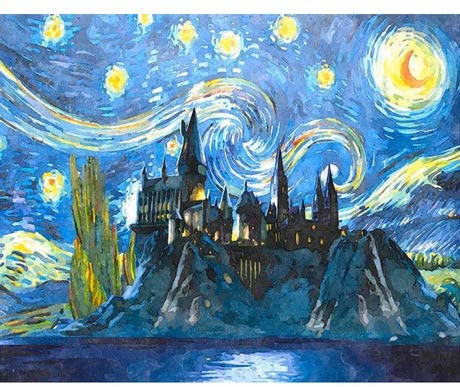 Harry Potter Van Gogh Paint by Numbers