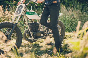 RESURGENCE GEAR SKINNY CAFE RACER SELVEDGE MOTORCYCLE JEANS