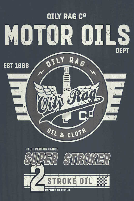 Oily Rag Clothing Motor Oil Alloy Sign