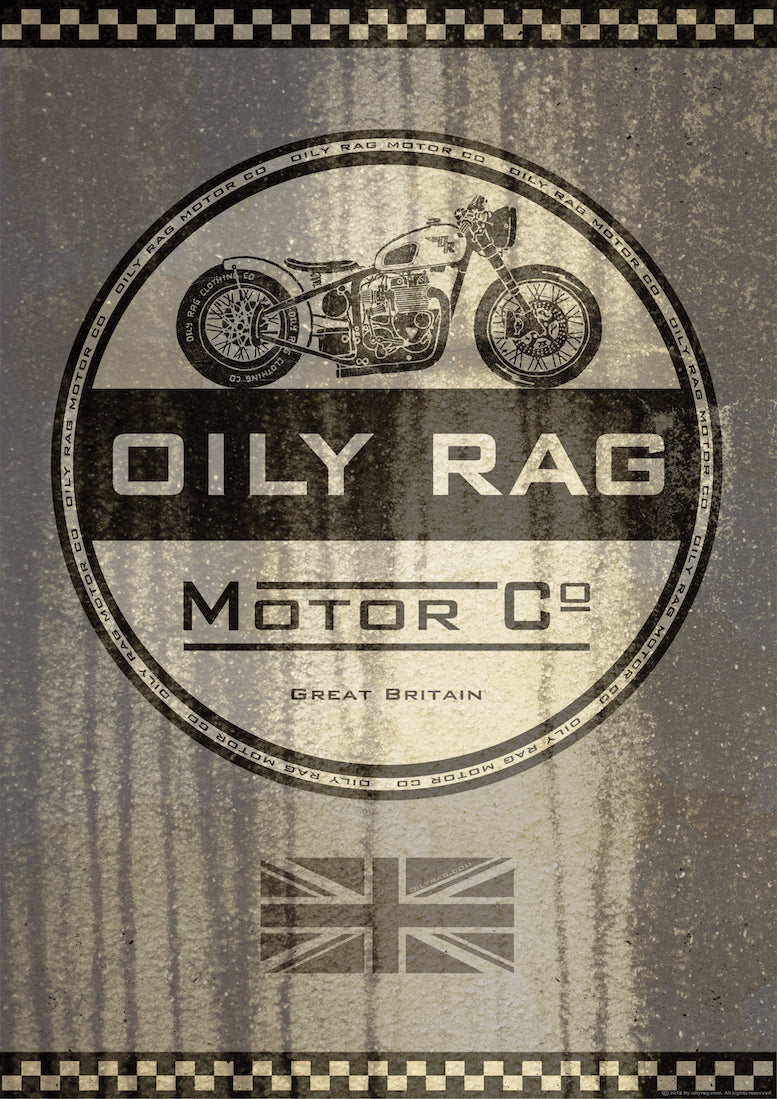 Oily Rag Clothing Motor Co Alloy Sign