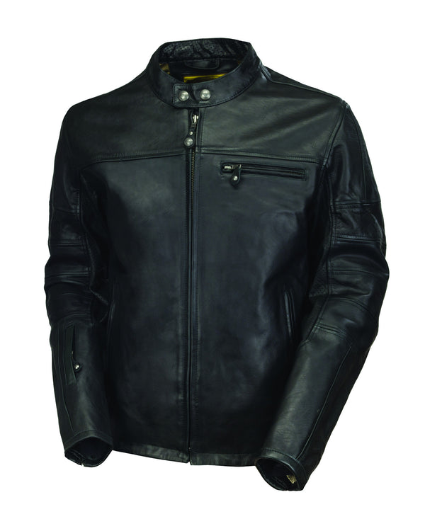 Roland Sands Design Ronin motorcycle leather jacket in Black