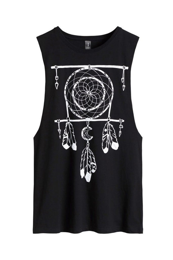 Black Arrow Ladies Dream Catcher Motorcycle Tank Top