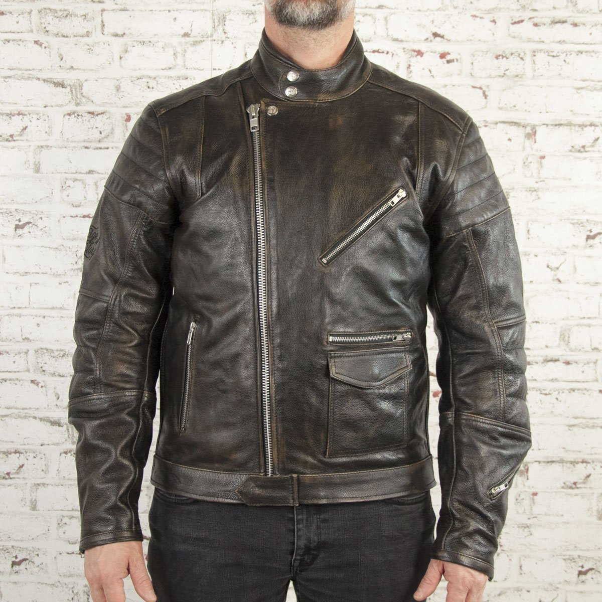 Age of Glory - Age of Glory Rocker Black Leather Jacket - Men's Jackets - Salt Flats Clothing