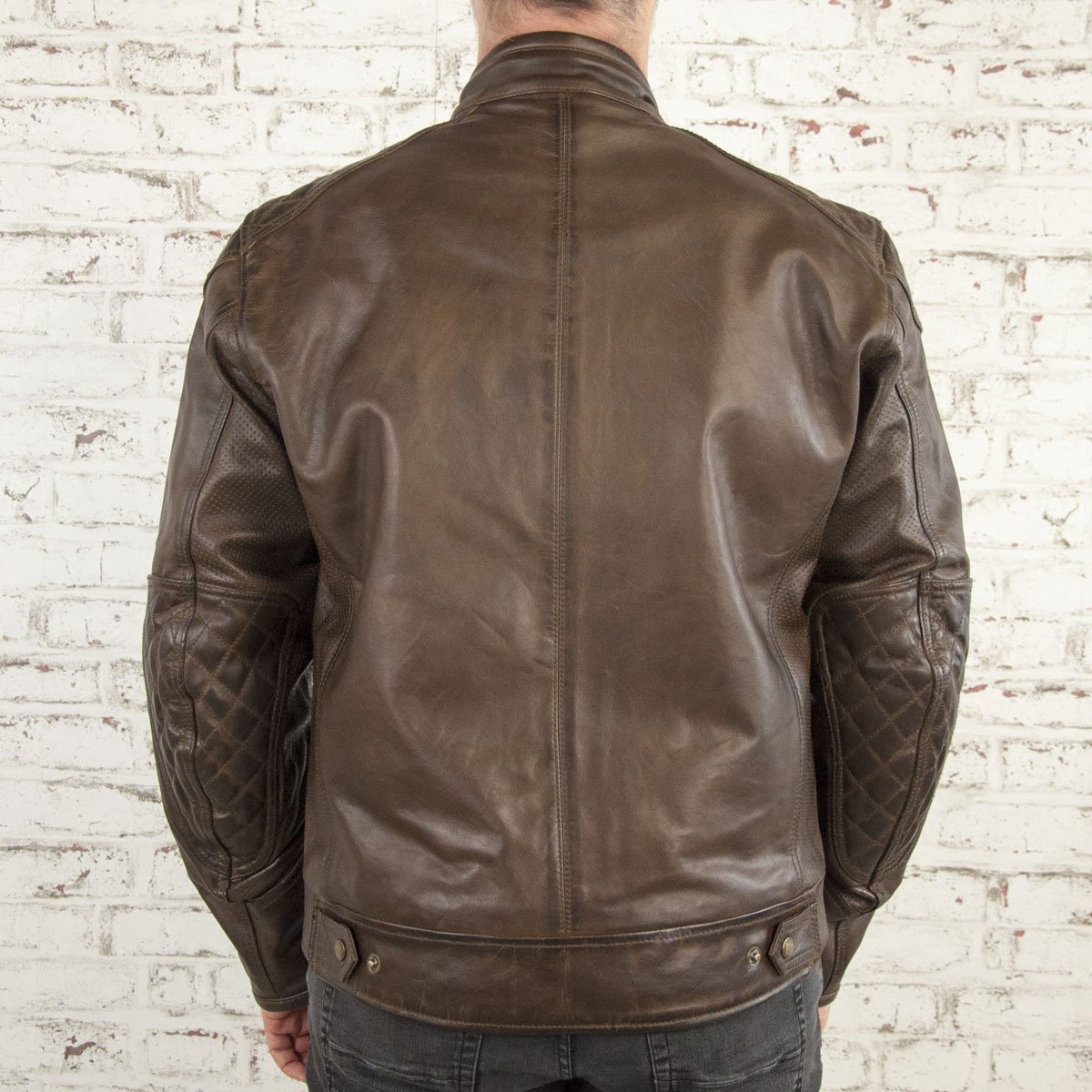 Age of Glory - Age of Glory Rogue Brown Leather Jacket - Men's Jackets - Salt Flats Clothing