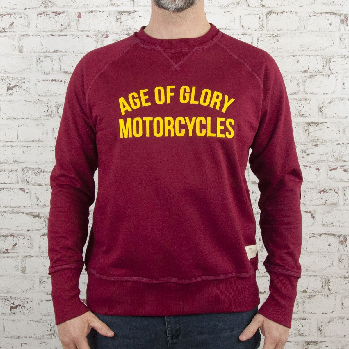 Age of Glory - Age of Glory Vintage Raglan Sweat top in Burgundy - Hoodies | Sweatshirts | Wind Stoppers - Salt Flats Clothing