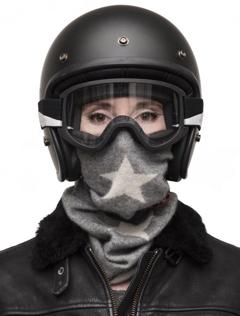 Black Arrow-Black Arrow 100% Cashmere Neck Warmer-Star-Bandana's and Tubes-Salt Flats Clothing