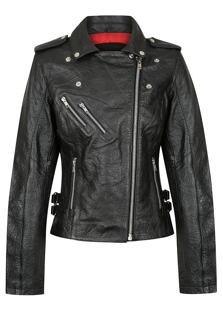 Black Arrow - Black Arrow Ladies Gypsy Perfecto Leather Jacket - Ladies Jackets - Salt Flats Clothing