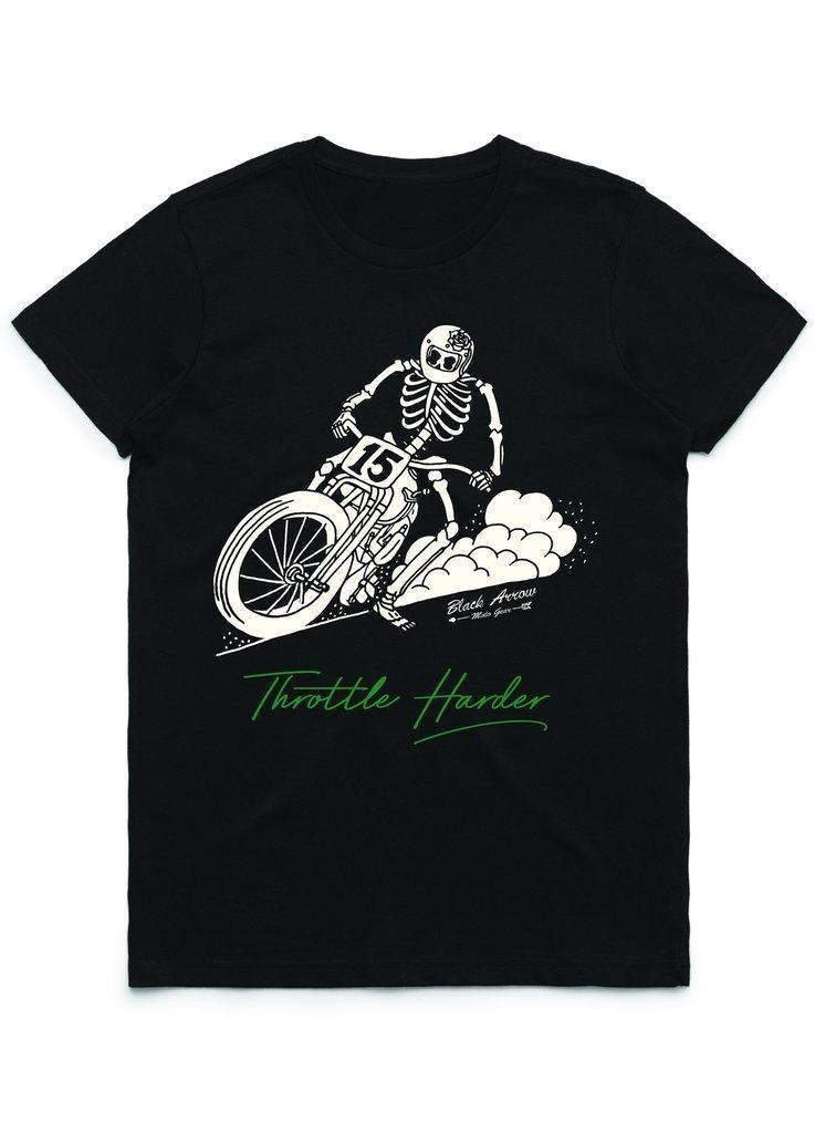 Black Arrow - Black Arrow Ladies Throttle Harder T'Shirt - T-Shirts - Salt Flats Clothing
